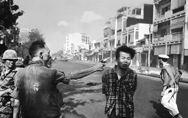 Murder of Vietcong by the Saigon Police Chief,  1968 Eddie Adams (Full Frame)
