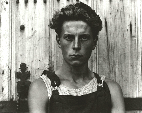 "Young Boy, Gondeville, Charente, France 1951  Paul Strand The rejection of painting in favor of ""straight photography."""