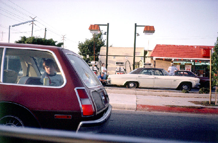 Gardena, Boy in a Station Wagon 1976  (For Steve Tibbs and Ed Anderson) Photograph by George Porcari