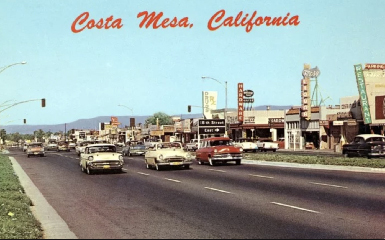 Postcard: Costa Mesa, California