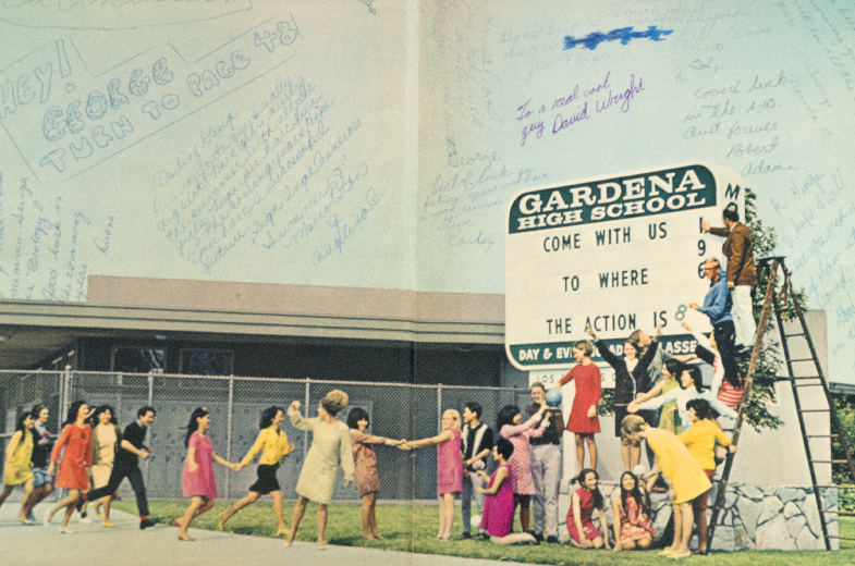 Gardena High School Yearbook, Front End Page 1968
