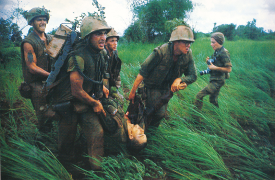 Larry Burrows,  Operation Prairie, Evacuation, Vietnam  1966