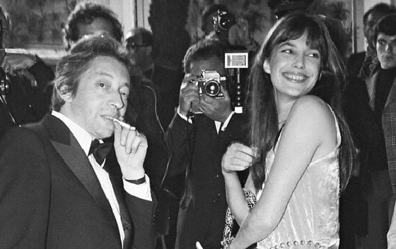 Daniel Angelli,  Serge Gainsbourg and Jane Birkin,  1969
