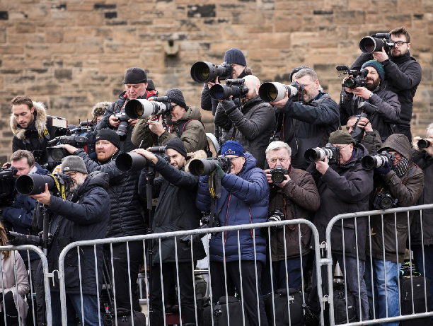James Glossop,  Paparazzi shooting the royal family in London from the press area , 2017