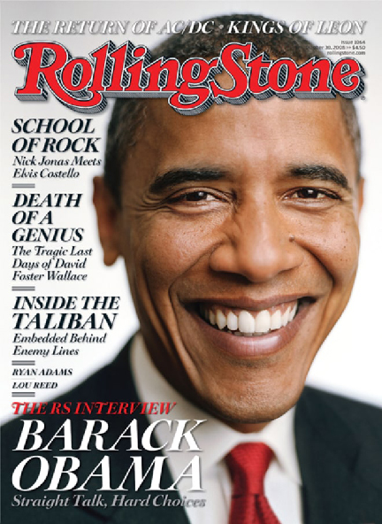 Sam Jones, Portrait of Barack Obama, Rolling Stone October 16, 2008
