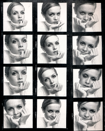 Ronald Traeger,  Proof Sheet, Twiggy, 1967