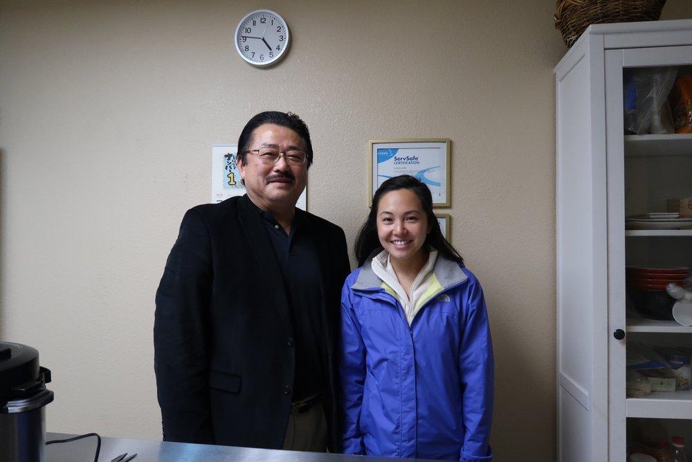 Mr. Yamashita and myself at Yamachan