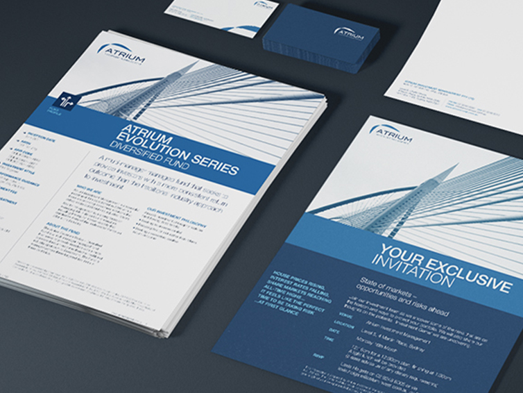 Atrium INVESTMENT MANAGEMENT BRAND IDENTITY