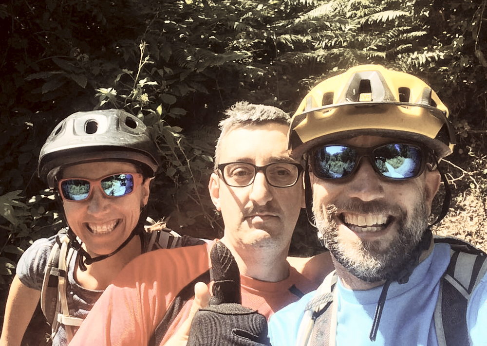 Our new bike buddy, Censi, in Faggeta.  He waited at the bottom of our first lap to get this selfie.