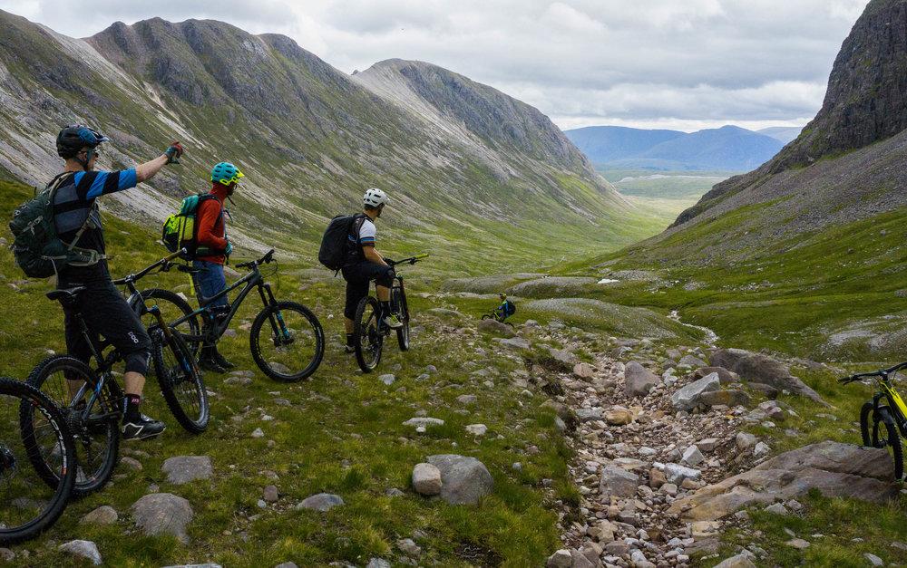 """A good example of the term """"loose"""" when describing a trail."""