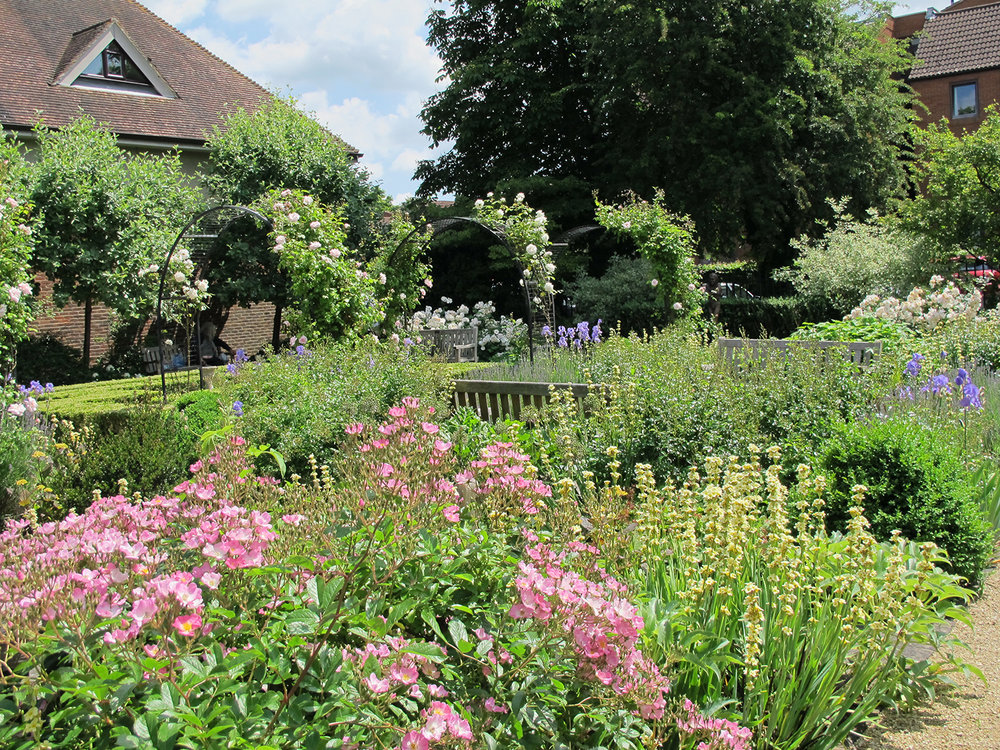 Victoria Garden, Farnham, designed by members of Surrey Gardens Trust