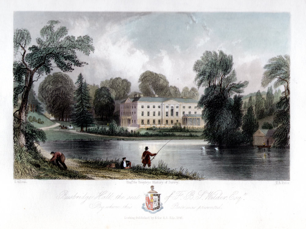 Busbridge Hall engraving  circa  1844
