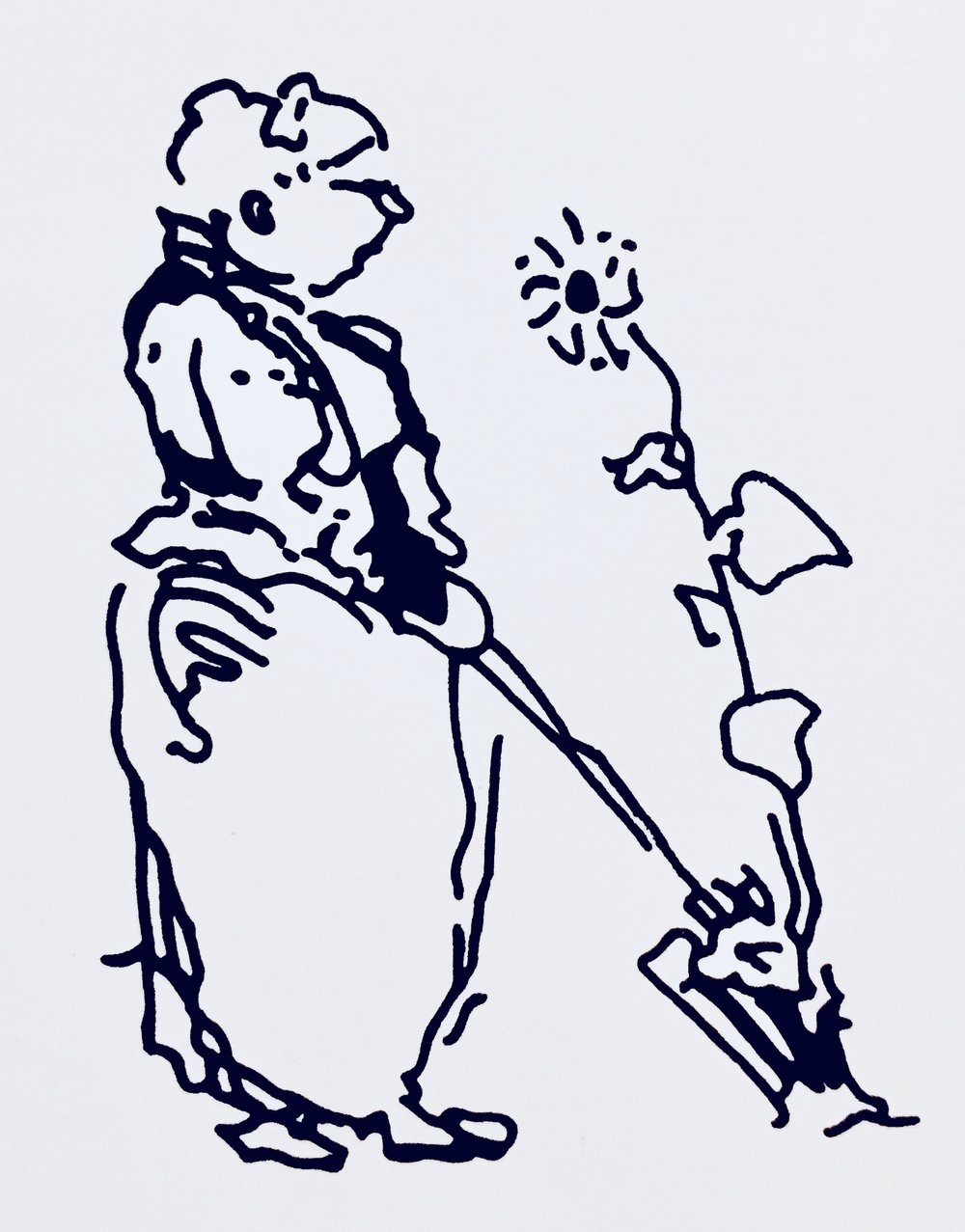 Edwin Lutyens sketch of his friend and collaborator (Redrawn version - original ©RIBA Collection)