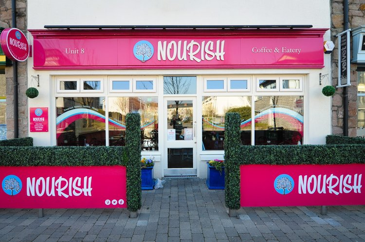 Nourish  coffee shop and eateries, enjoy some fantastic cakes, coffees and full Irish breakfasts!