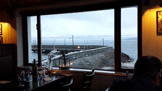 O'Grady's on the Pier  is located just a few metres from a sandy beach in the village of Barna, 6 kilometers from Galway's city centre. The two-floor restaurant offers some of the best views of Galway Bay and an atmosphere that enhances any dining experience.