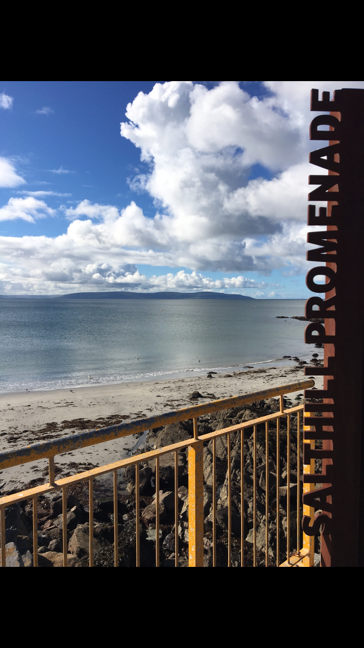 Salthill Promenade - a beautiful walk into Galway city.