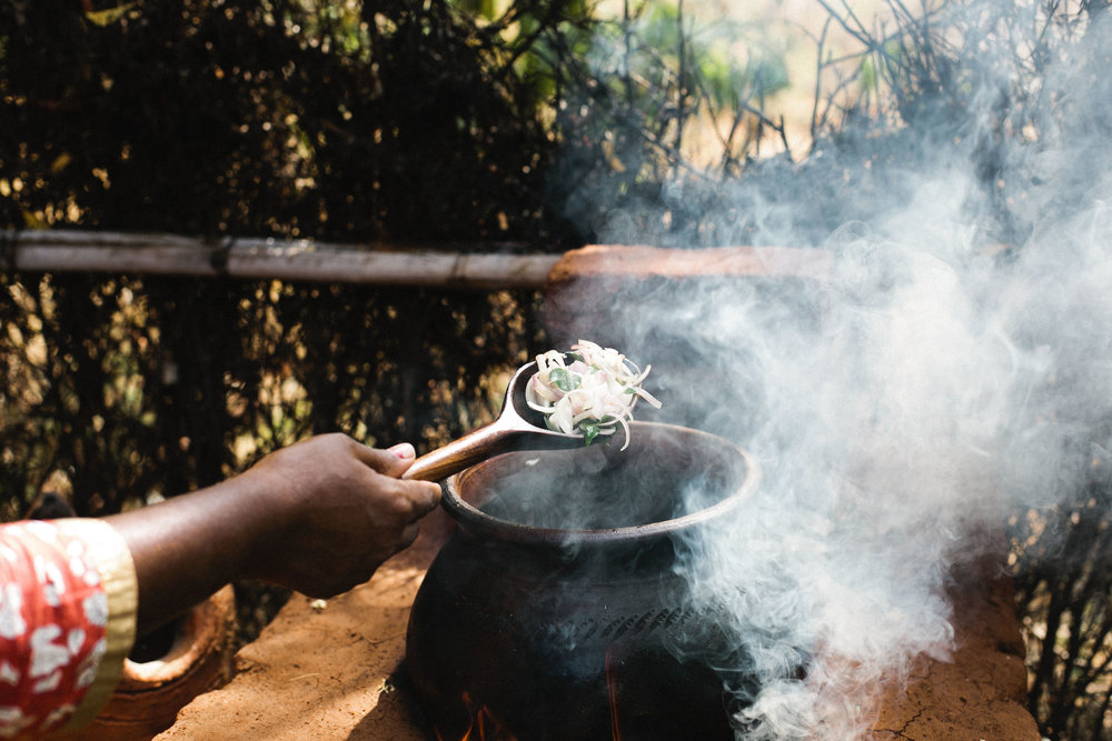 Traditional cooking at the Timbaktu Collective