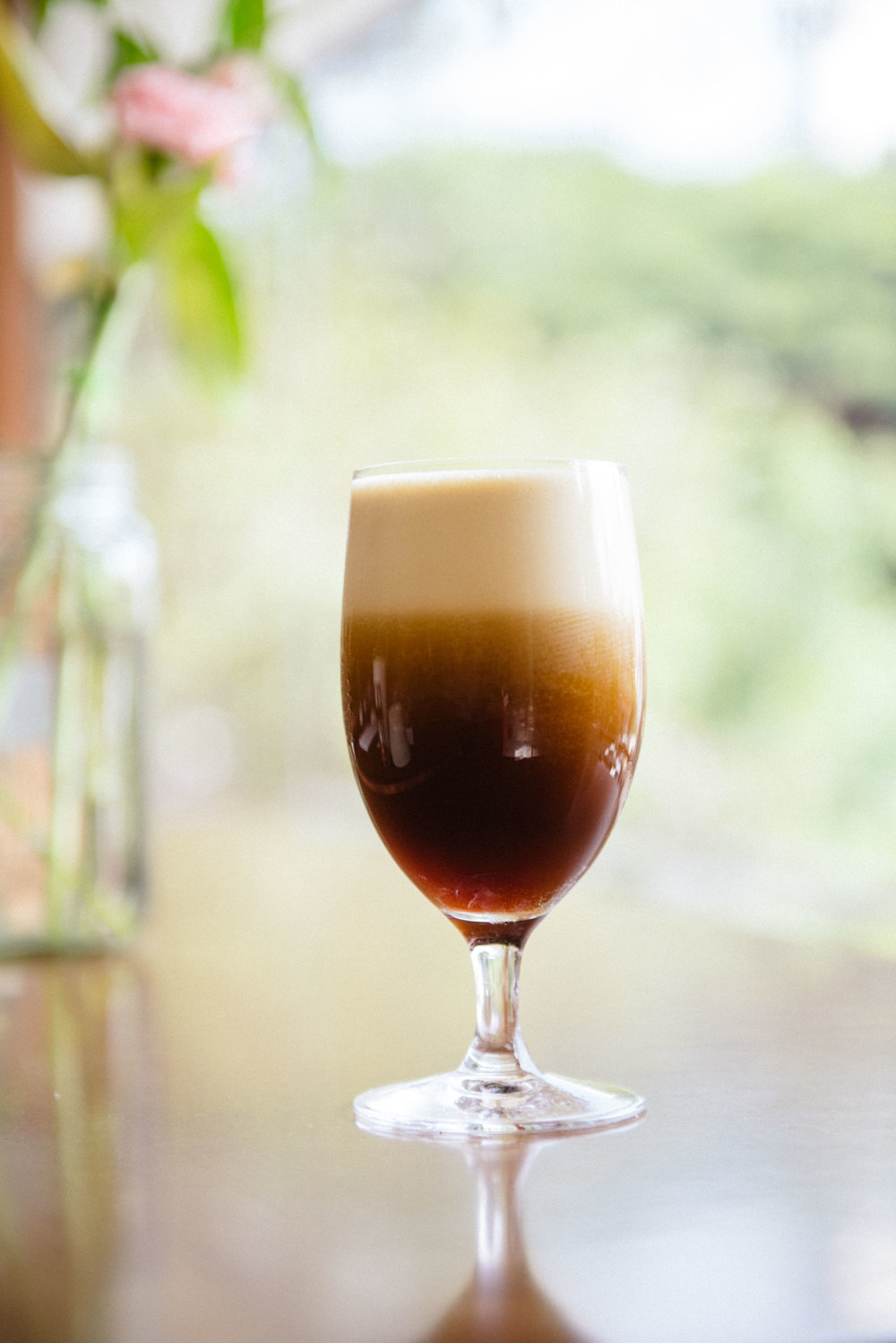 Nitro-infused cold brew at The Flying Squirrel Micro-Roastery & Cafe