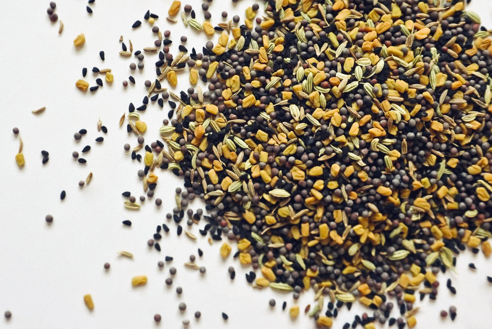 Paanchphoron – The real trump card of Bengali cooking is perhaps the extensive use of paanchphoron, a term used to refer to the five essential spices (a mixture of cumin, fennel, fenugreek, kalonji, and black mustard seeds).
