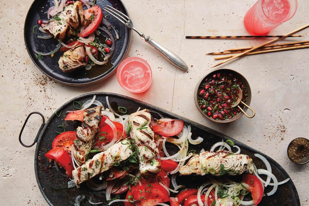 Baku Fish Kebabs. Excerpted from  Taste of Persia  by Naomi Duguid (Artisan Books). Copyright © 2016. Photographs by Gentl & Hyer.