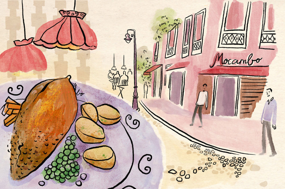 Guide to eating out in Kolkata | Mocambo illustration