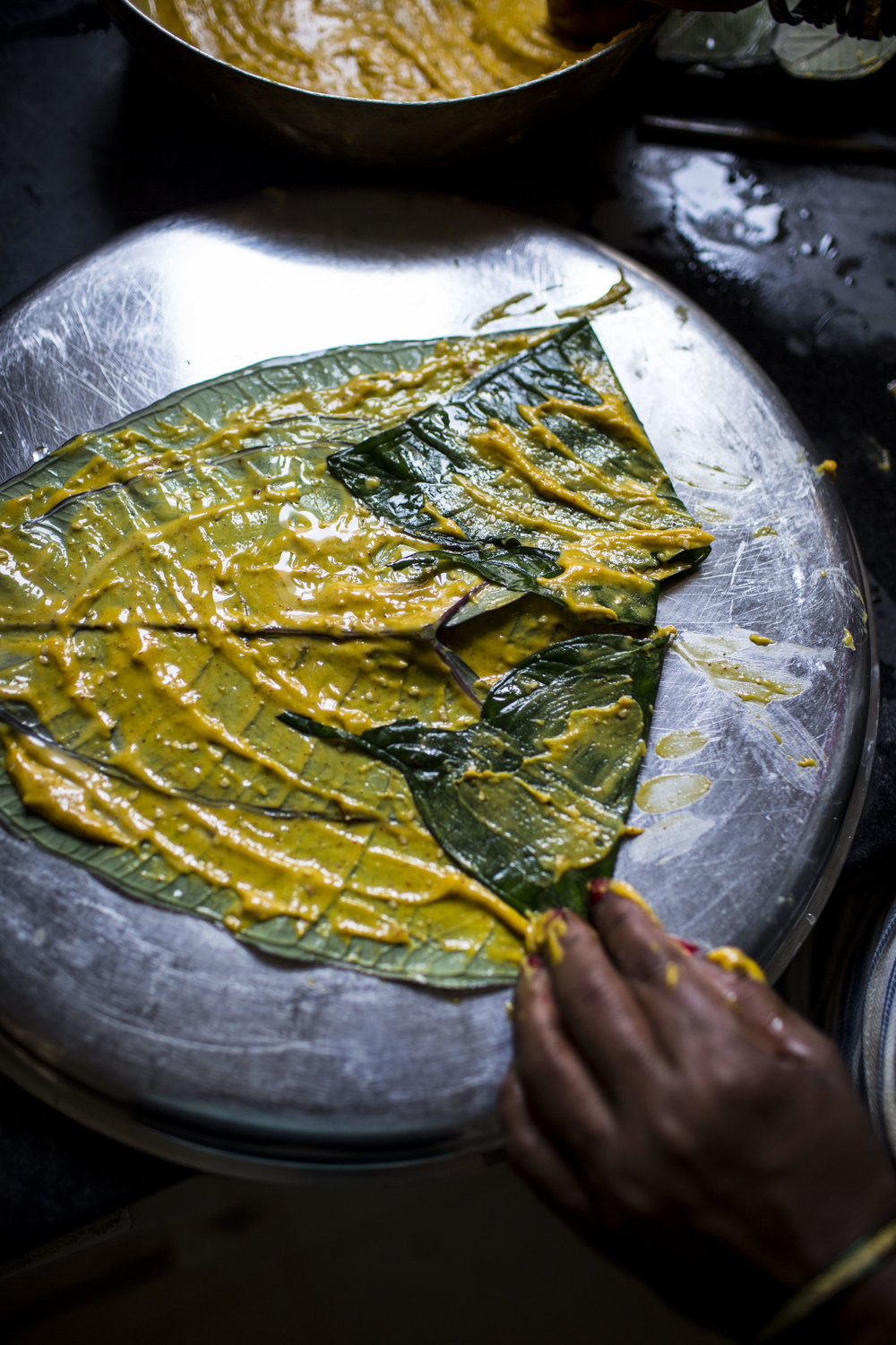 Recipe for Patrel | Gujarati farsan made with colocassia leaves