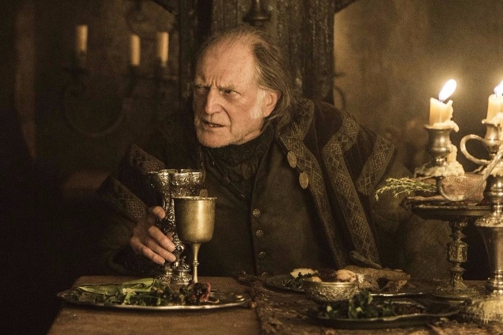 Arya Stark makes Walder Frey a delicious pie made out of his two sons, in Game of Thrones.
