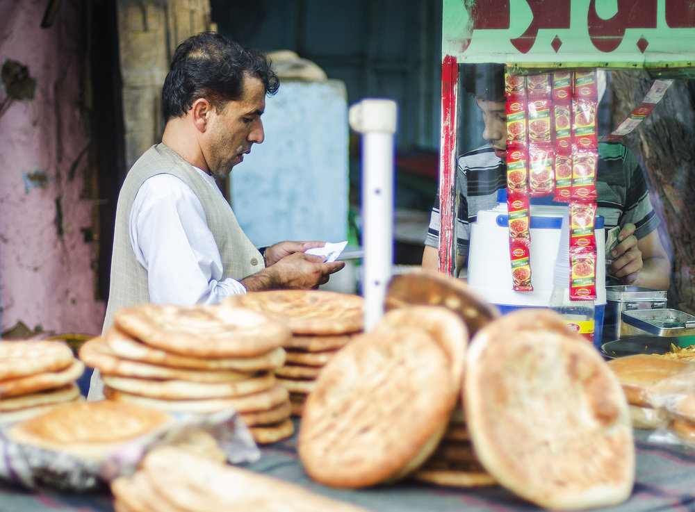 Afghan breads in Lajpat Nagar market, Delhi