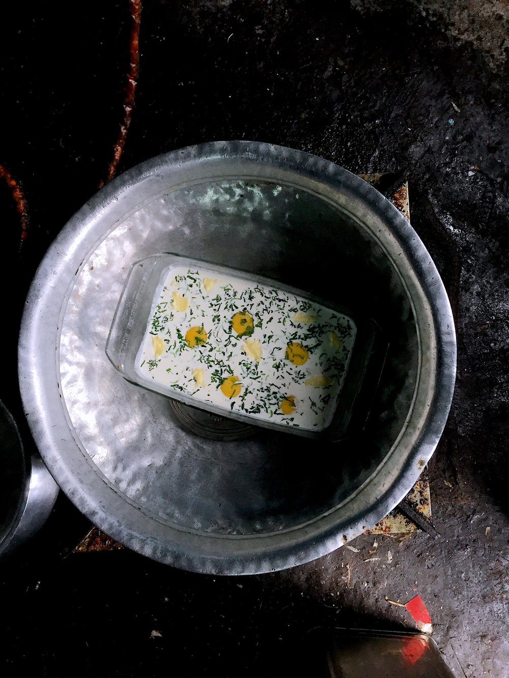 Recipe for malai par eeda (coddled eggs)by Kurush Dalal
