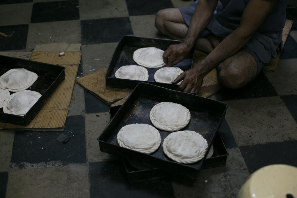 Coconut muffins at Thomsons Bakery, Bangalore