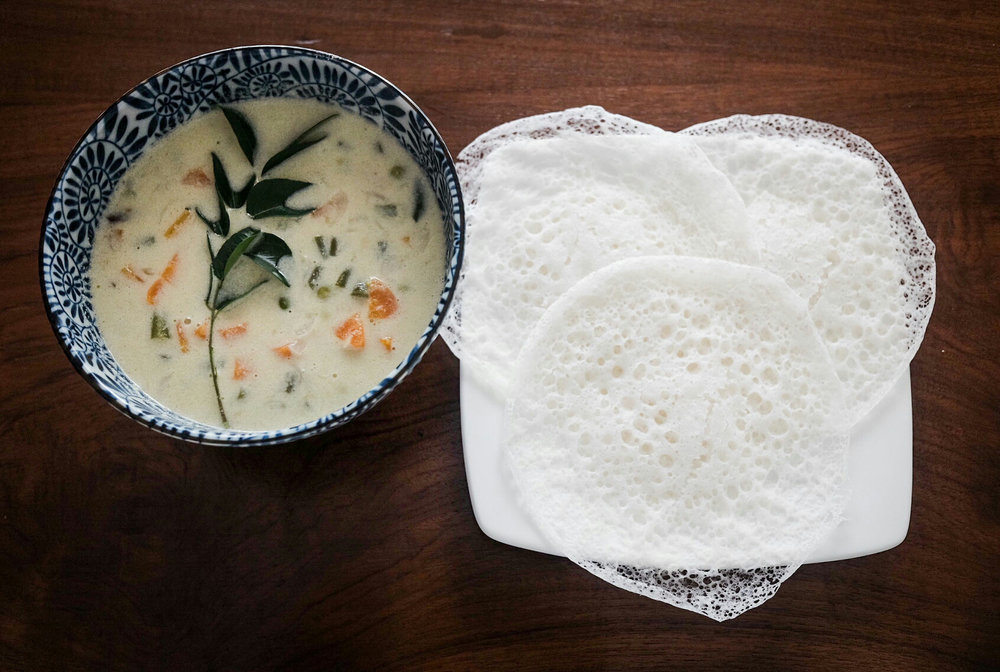 Appam and Vegetable Stew