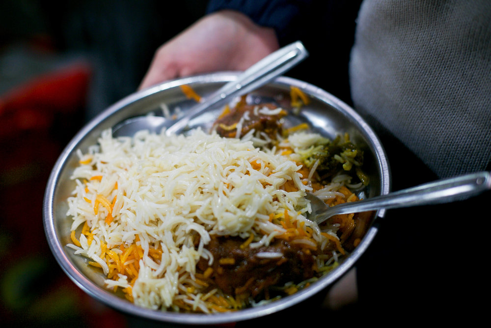 A plate of beef biryani in a small squat shop at 9 am, is fragrant and filling. The owner cooks his biryani with only the 1211 variety of rice — a variety of basmati known for its extraordinary length of grain, upto 9mm.
