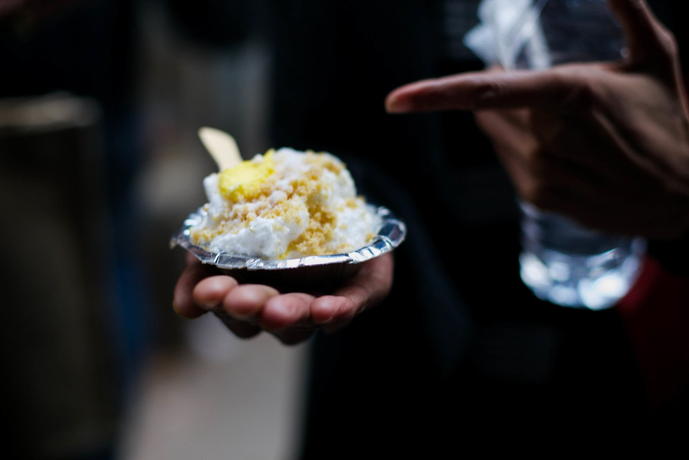 Milk and cream are whisked for hours before daylight, to form a light, foamy cloud, dusted with saffron and pistachio, and the merest sprinkling of sweetened khoya.