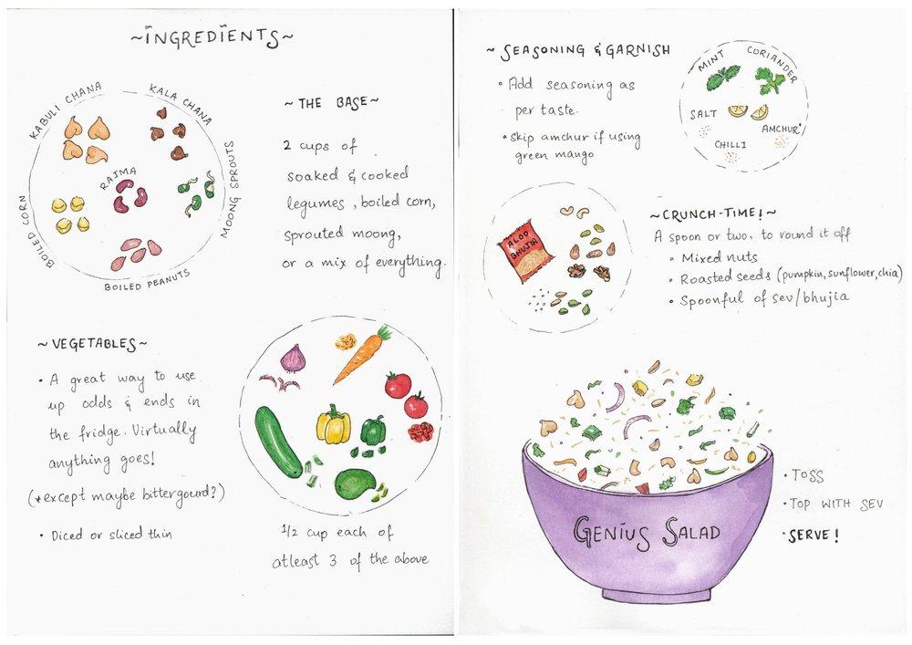 Salad recipe | Cook with children | Illustrated recipe
