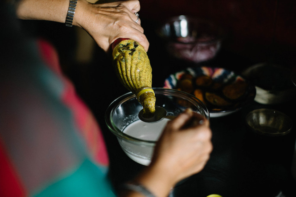 Recipe for brinjal in coconut milk by artist Jenny Pinto for #1000Kitchens
