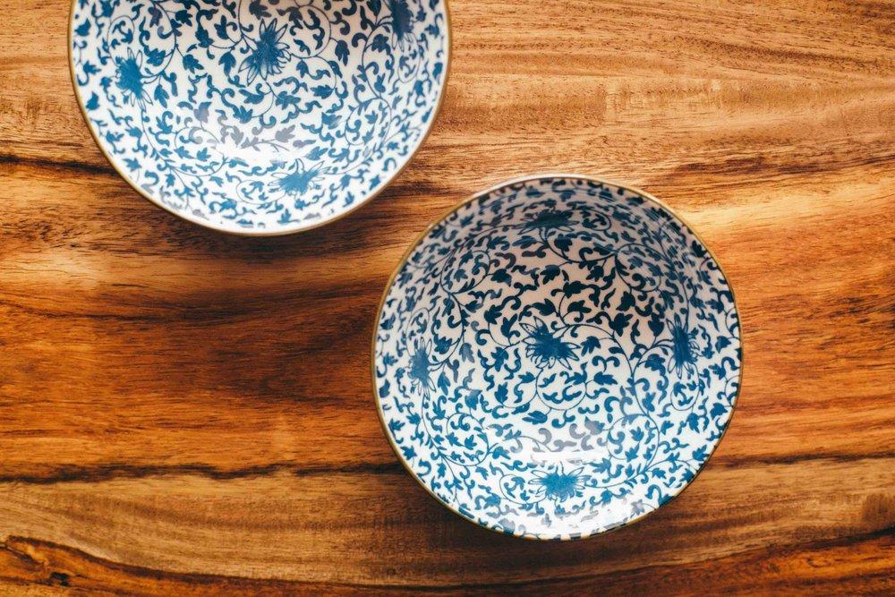 - Small bowl - Diameter: 10.5 cm; Height: 4 cm (INR 400)