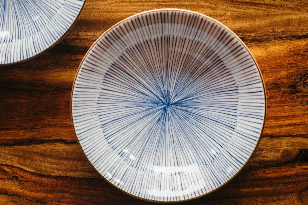 - Large bowl - Diameter: 16.5 cm; Height: 5.5 cm (INR 800)