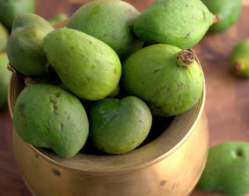 Raw mango pickle in brine