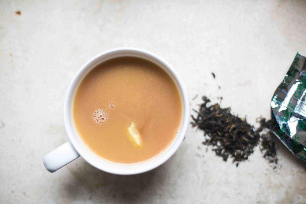 Recipe for yak butter tea, a salty tea popular in Tibet