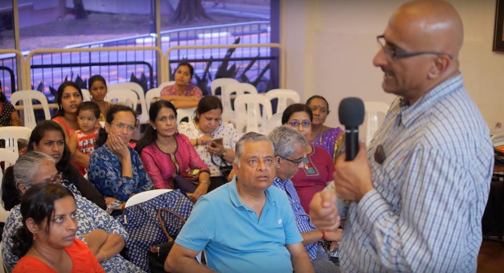 Ramakrishnan explaining the OPOS technique