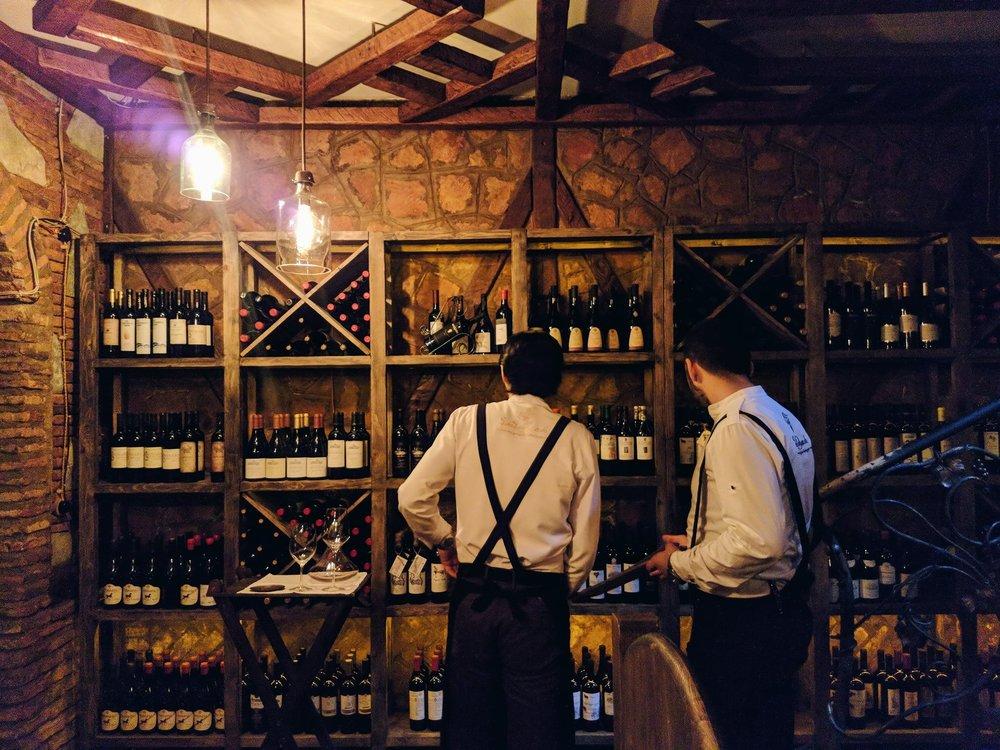 Barbarestan's impressive wine cellar. Image credit:Barbarestan.