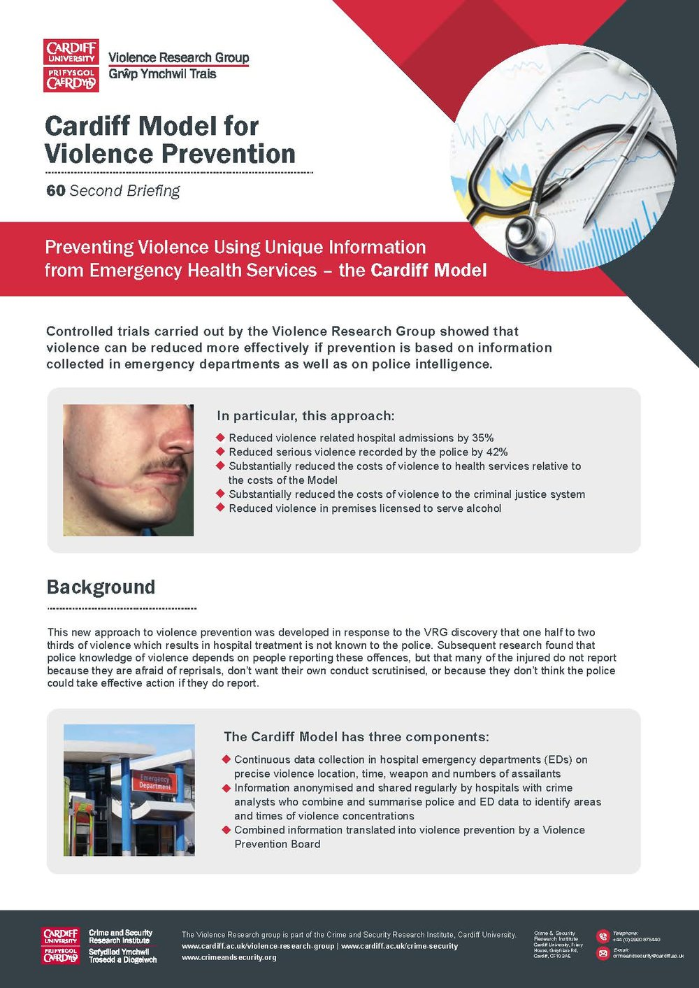 Preventing Violence Using Unique Information from Emergency Health Services – the Cardiff Model -
