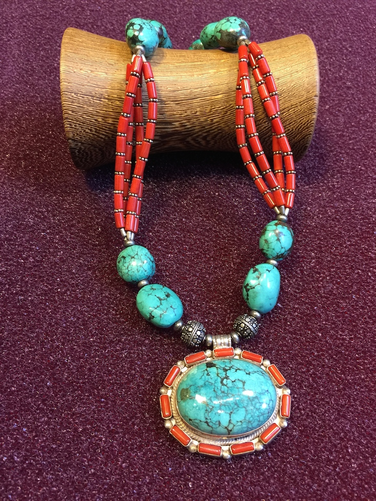 corail and turquoise