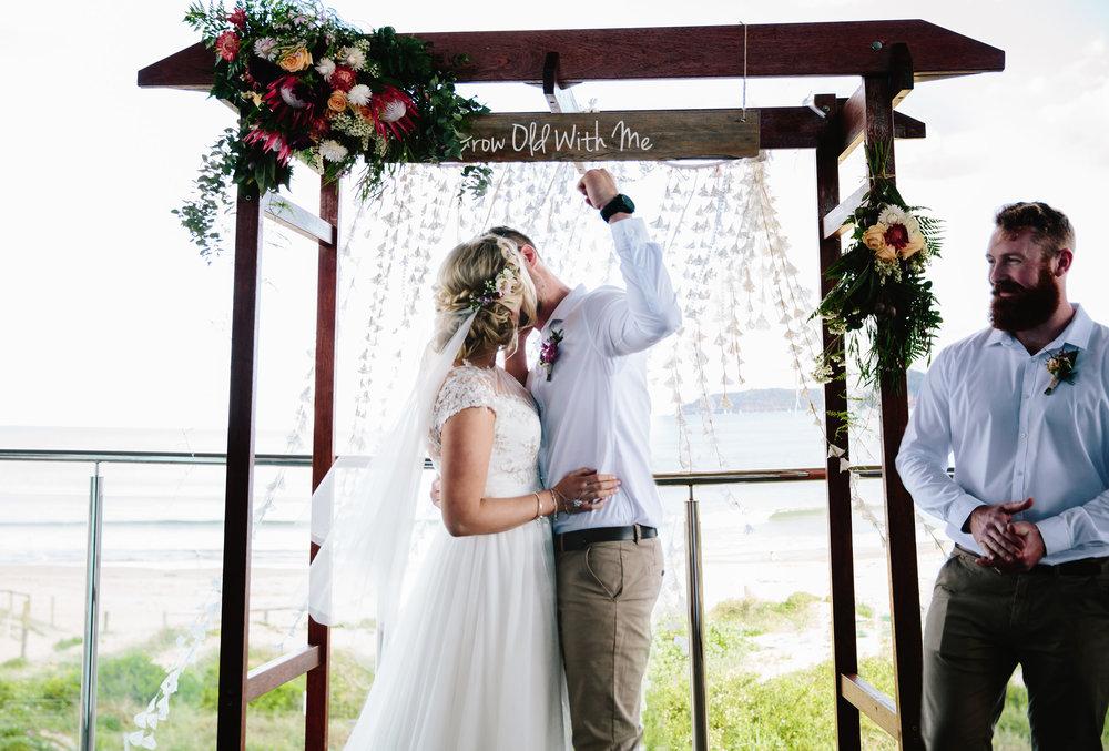 Hills District, Sydney Wedding photography - first kiss
