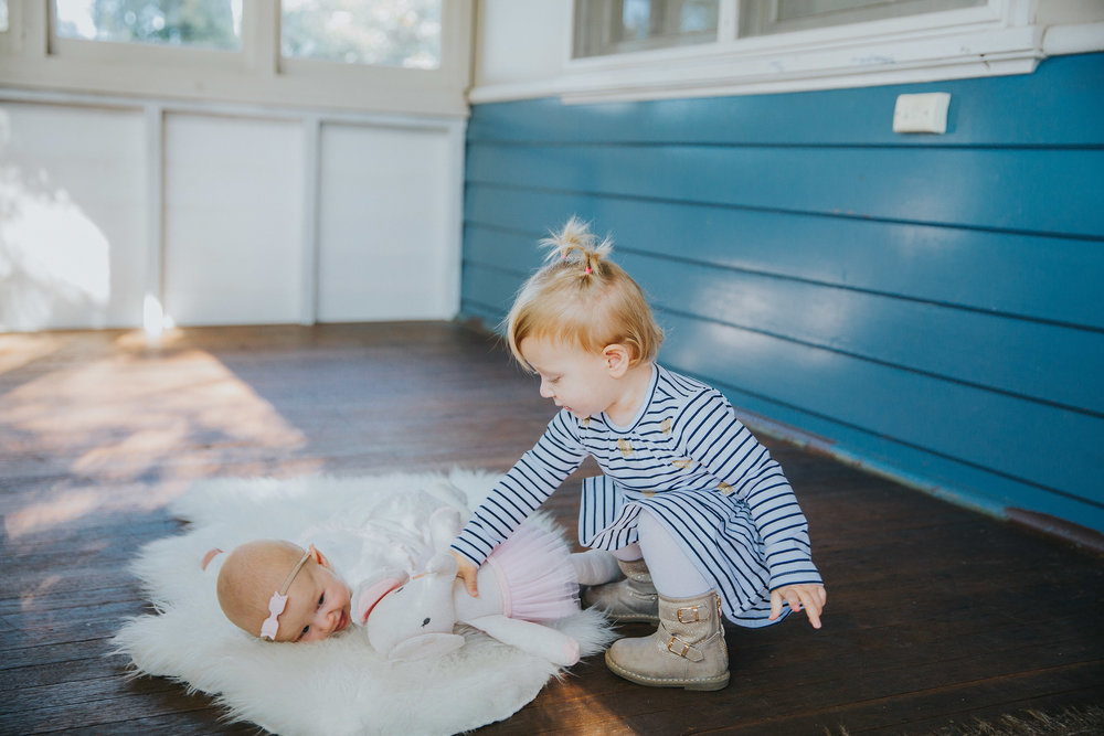 Sharing sister | Hills District newborn photographer