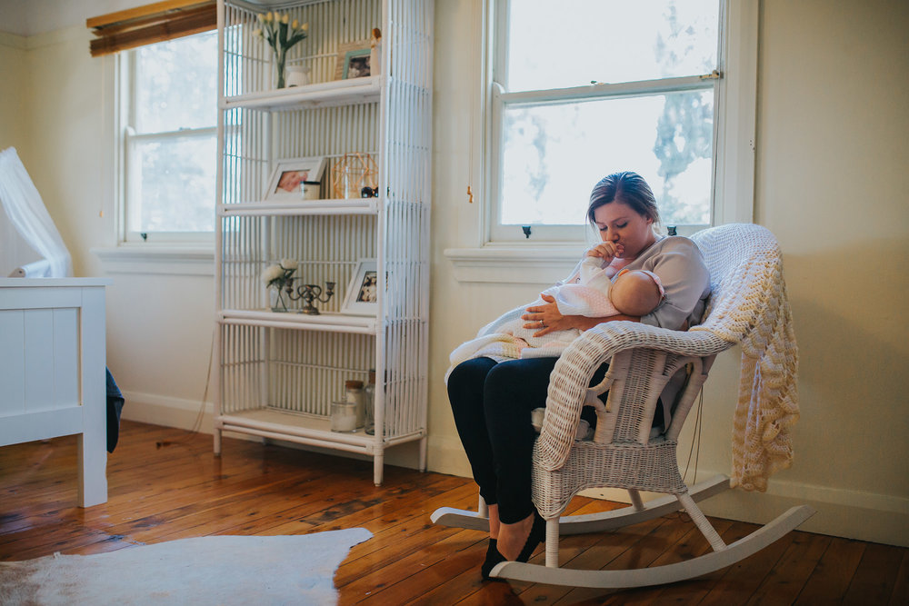 rocking chair | Hills District newborn photographer