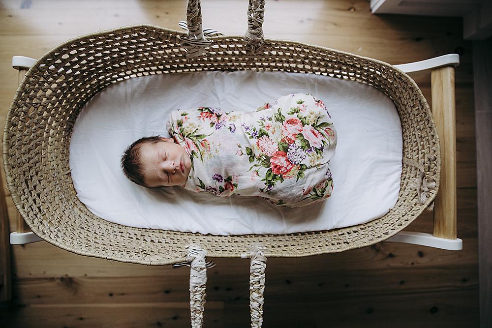 Brand new baby girl | Toshi wrap | Lauren Kennedy Photographer