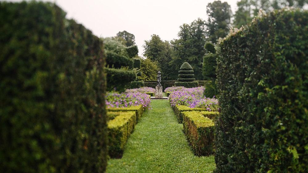 Great Fosters wedding video garden Surrey