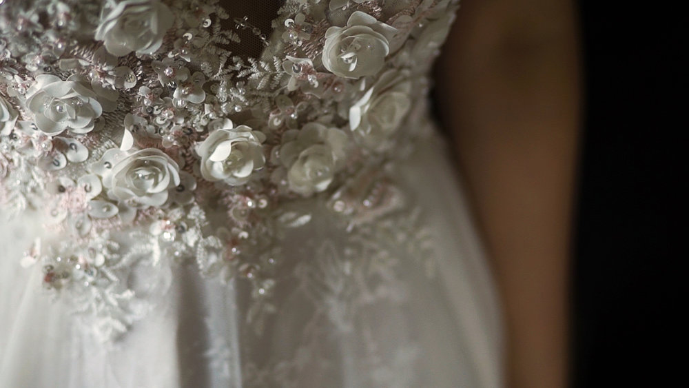 Wedding dress Great Fosters Surrey