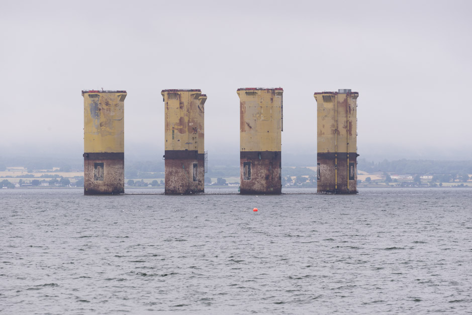 Hull of Hutton, TLP Oil rig, Cromarty Firth, Scotland